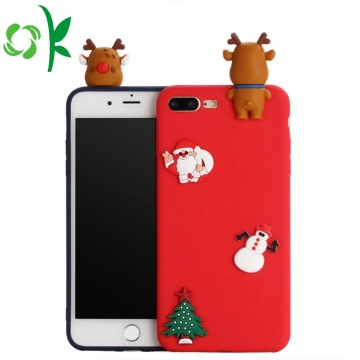 Krismas Hadiah 3D Lovely Soft Phone Shell silikon