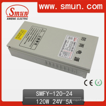 Luz a prueba de lluvia de 120W 24V 5A fuente de alimentación LED al aire libre