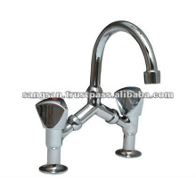 Double Handle Bridge Basin Mixer