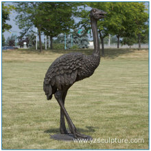 Garden African Animal Bronze Ostrich Sculpture