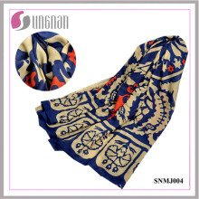 Elegante Totem Art Padrão xale cachecol lenço de algodão Turquia (SNMJ004)