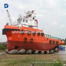 Airbag pneumatique pneumatique en caoutchouc flottant gonflable pour le lancement de bateau