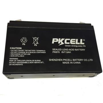 PKCELLL marca 6 v 7ah bateria acidificada ao chumbo SLA para UPS