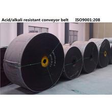 Banda transportadora de caucho ácido y álcali resistente resistente a la corrosión