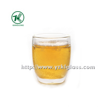Double Wall Glass Bttle by BV, SGS, (Dia10cm, H: 11.5cm, 428ml)