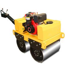 Hydraulic walk behind mini single double drum compactor road pedestrian vibratory vibration road roller