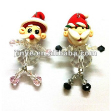 Promotion Santa claus porcelain doll keychain christmas gift