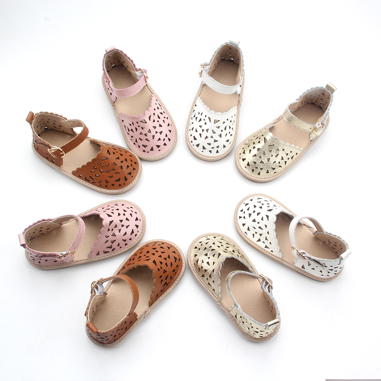 Newborn Baby Girls Dress Designs Hollow Pattern Shoes
