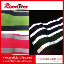 Colorful elastic reflective safety wristband