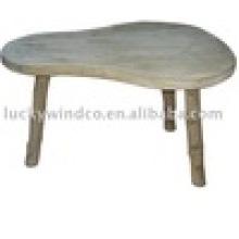 Страна Ручная работа 3 ноги Груша Shaped Top Деревянный стол акцента