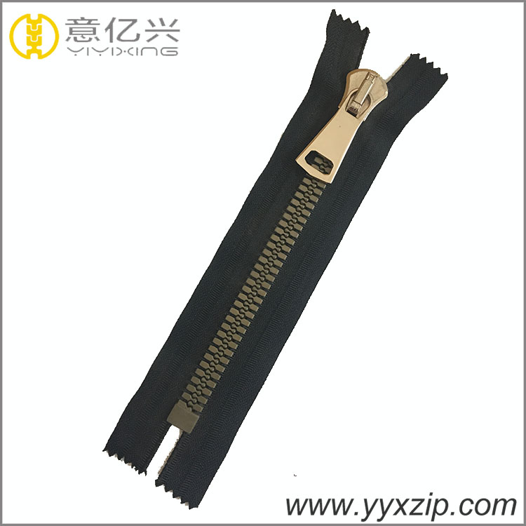 closed end plastic zipper