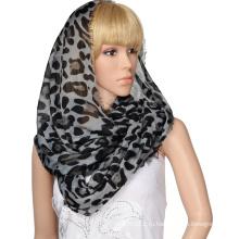 Новый Женский Мода Круг Шарф Леопарда