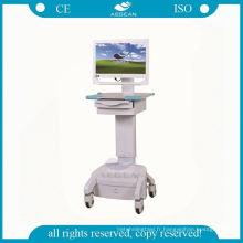 Poste de travail luxueux mobile avec les chariots cliniques d'infirmerie d'hôpital d'ordinateur