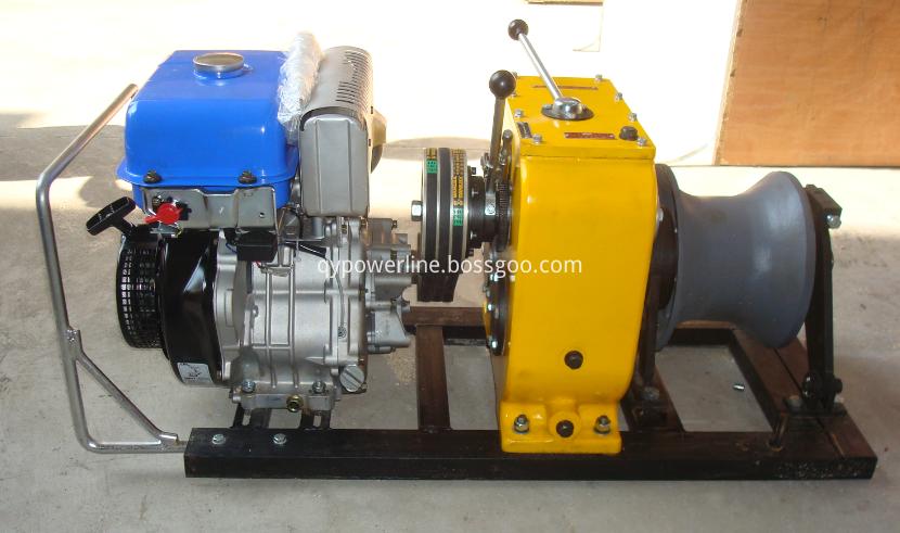 engine powered winch
