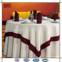 Custom Jacquard Tisch Tuch Elegant Restaurant verwendet Tischdecke mit Overlay