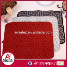 Factory supplier microfiber printing water absorbent kitchen dish drying mat
