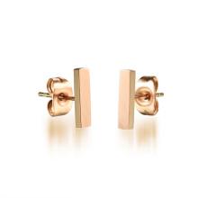 2018 Saudi-Designs einfache Mode Gold Schmuck Bar Ohrstecker für Frauen