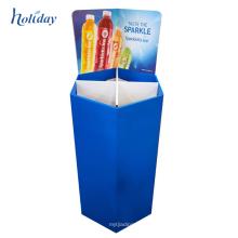 Caisse de vidange faite sur commande d'affichage de carton de Noël à vendre, affichage de poubelle de détail