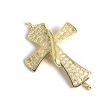 La manera caliente al por mayor CZ de la cruz de la micro pavimenta los resultados accesorios de la joyería de los granos