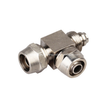 Quick Twist Tee Brass Joint Fittings