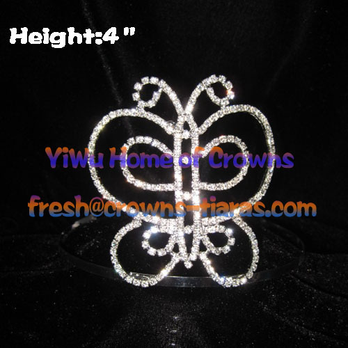 4 In Beauty Butterfly Pageant Kronen und Tiaras