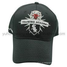 Gorra de béisbol de malla, sombrero de deportes Snapback con bordado