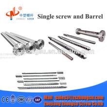 38CrMoAlA / Tornillo de perfil y barril / Máquina extrusora de plástico
