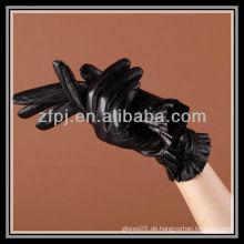 2012 neu gestaltete Handgelenklänge Lederhandschuhe