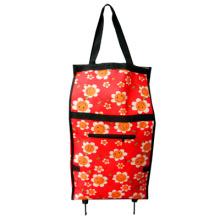 flower design printing shopping trolley bag with big size