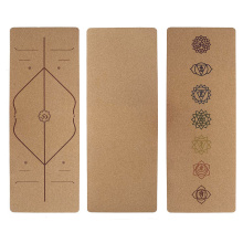 Two Layer Two Color Cork Yoga Mat