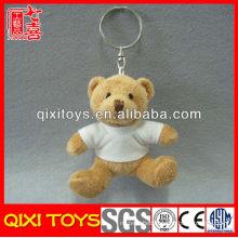 Wholesale Small T-shirt Soft Gift Stuffed Toy Plush Teddy Bear Key Ring