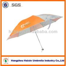 Guarda-chuva de dobra Parasol ao ar livre com dossel logotipo impresso Manual