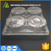 récipients de cupcake en plastique à clapet