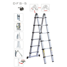 Tragbare Aluminium Teleskop-Retract Falten Doppel-Side-Leiter Treppen