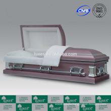 Casket Supplier LUXES US Style 18ga Funeral Casket For Sale