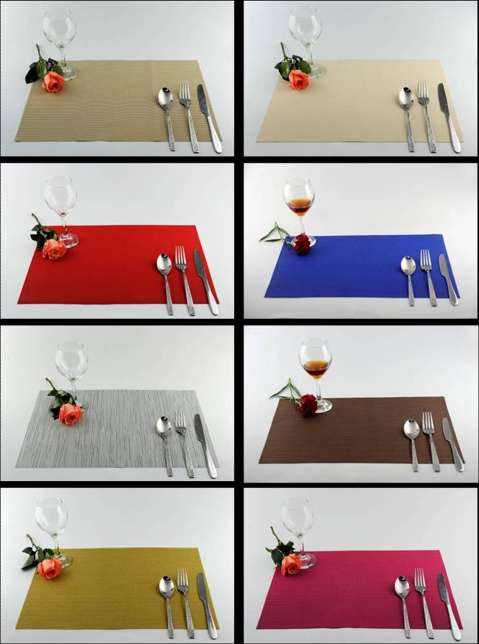 Pure color series of household business dining mat decoration01