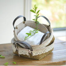 (BC-ST1079) Practical Pure Manual Natural Straw Basket