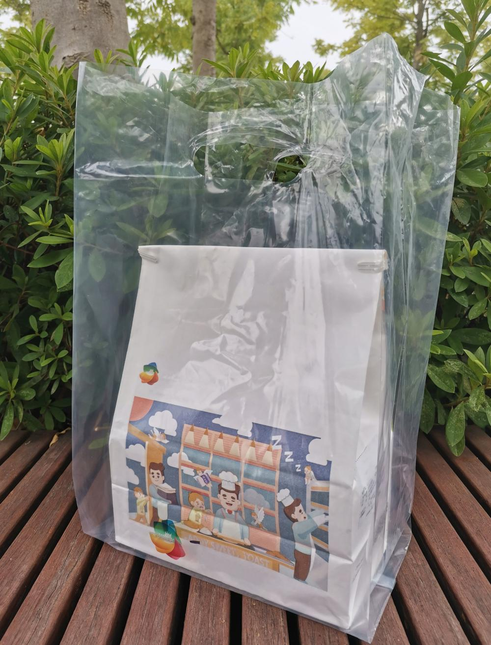 100% Compostable Plastic T-shirt Shopping Bags