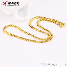 Collar o cadena de joyería de imitación chapado en oro de moda mujeres - 42791