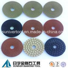 Farbenfrohe Serie Standard Diamant Nassgebrauch Polieren Pads