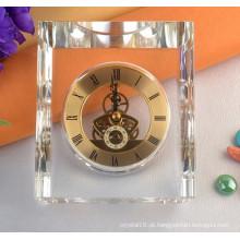 Chegada Nova Coração Em Forma De Favor Do Casamento Relógio De Cristal