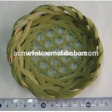 Plato de bambú Plato de té redondo Vajilla de bambú