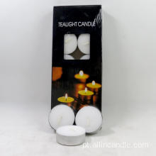 10 pack 4 horas tealight sem perfume branco