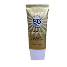 BB creme de alumínio de plástico embalagem de tubo de plástico oval super