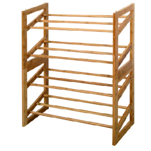 Multi-functional bamboo rack wooden 4-tier shoe rack