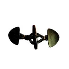 Novo botão de couro Stytle para Overcoat Parka Topcoat (HJB04)