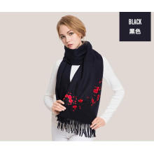 pure mongolian cashmere embroidered scarf shawl