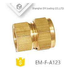 EM-F-A123 Conector de tubo de cobre rápido de latón con acoplamiento recto de manguera