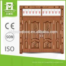 Puertas clásicas de acero diseñan puerta de villa imitación cobre