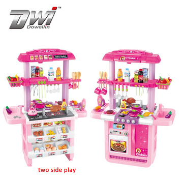 DWI Pretend barbecue home educational plastic kids kitchen sets play toy for 2 kids